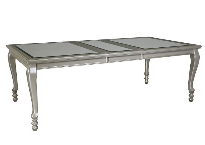 Silver Coralayne Rectangular Dining Room Extension Table