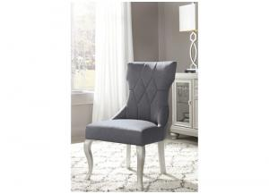 Dark Gray Coralayne Dining Upholstered Side Chair (2/Cn)