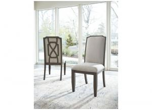 Beige Zimbroni Dining Upholstered Side Chair (2/Cn)