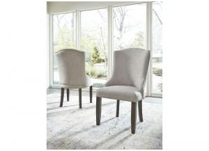 Beige Zimbroni Dining Upholstered Arm Chair (2/Cn)