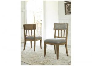 Gray Ollesburg Dining Upholstered Side Chair (2/Cn)