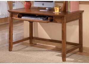 Medium Brown Cross Island Home Office Small Leg Desk