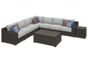 Alta Grande Beige/Brown Sectional w/Table