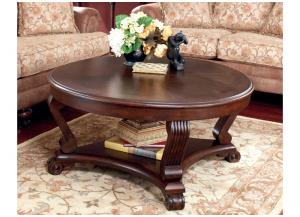 Dark Brown Brookfield Round Cocktail Table