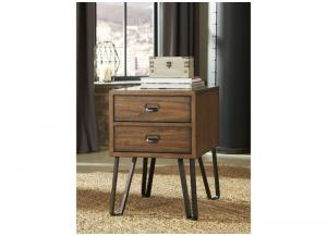 Warm Brown Centair Chair Side End Table