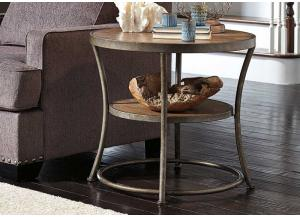 Light Brown Nartina Round End Table