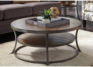 Light Brown Nartina Round Cocktail Table