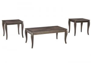 Metallic Gray Vintelli Occasional Table Set (3/Cn)